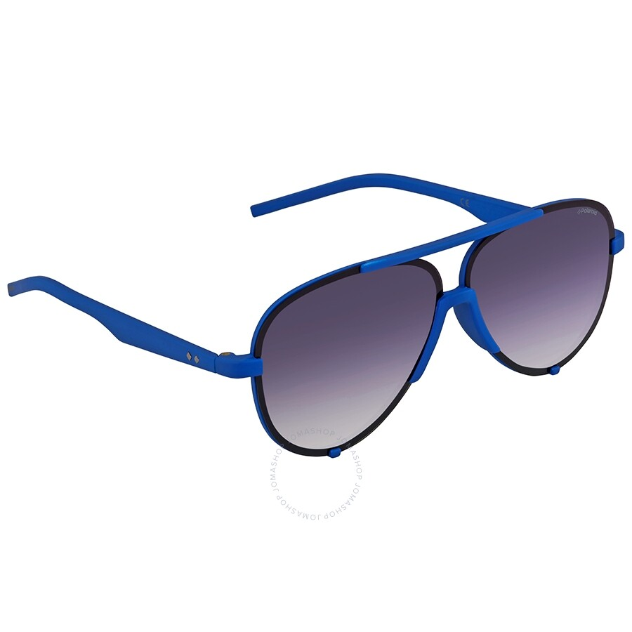 623c39e8155 Polaroid Blue Gradient Aviator Sunglasses PLD 6017 S ZDI 60 ...