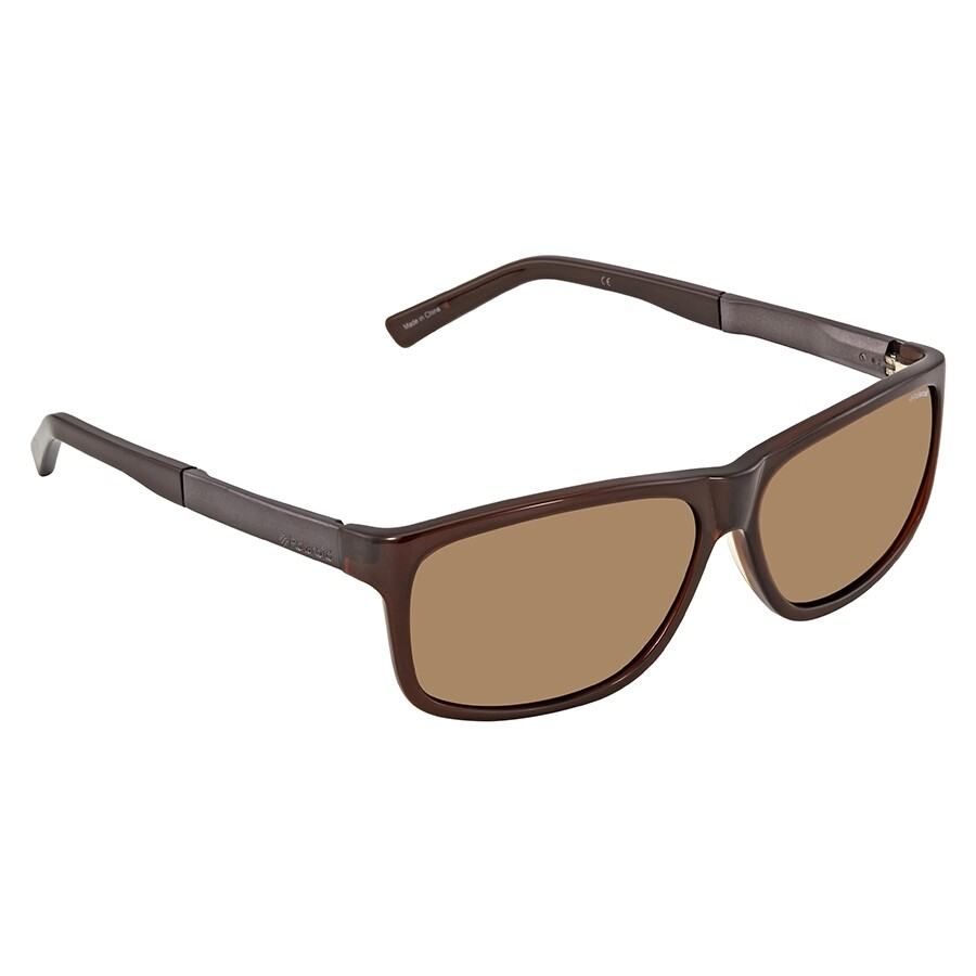 9e9086e430 Polaroid Brown Polarized Rectangular Sunglasses X8416 O81 59 ...