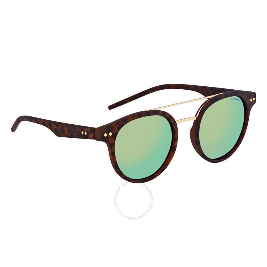 b4684ddcbc28 Polaroid Gray Green Round Polarized Sunglasses PLD6031S0N9P49 ...