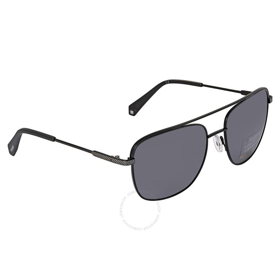 535abea2a Polaroid Gray Rectangular Polarized Sunglasses PLD2056S000358 ...