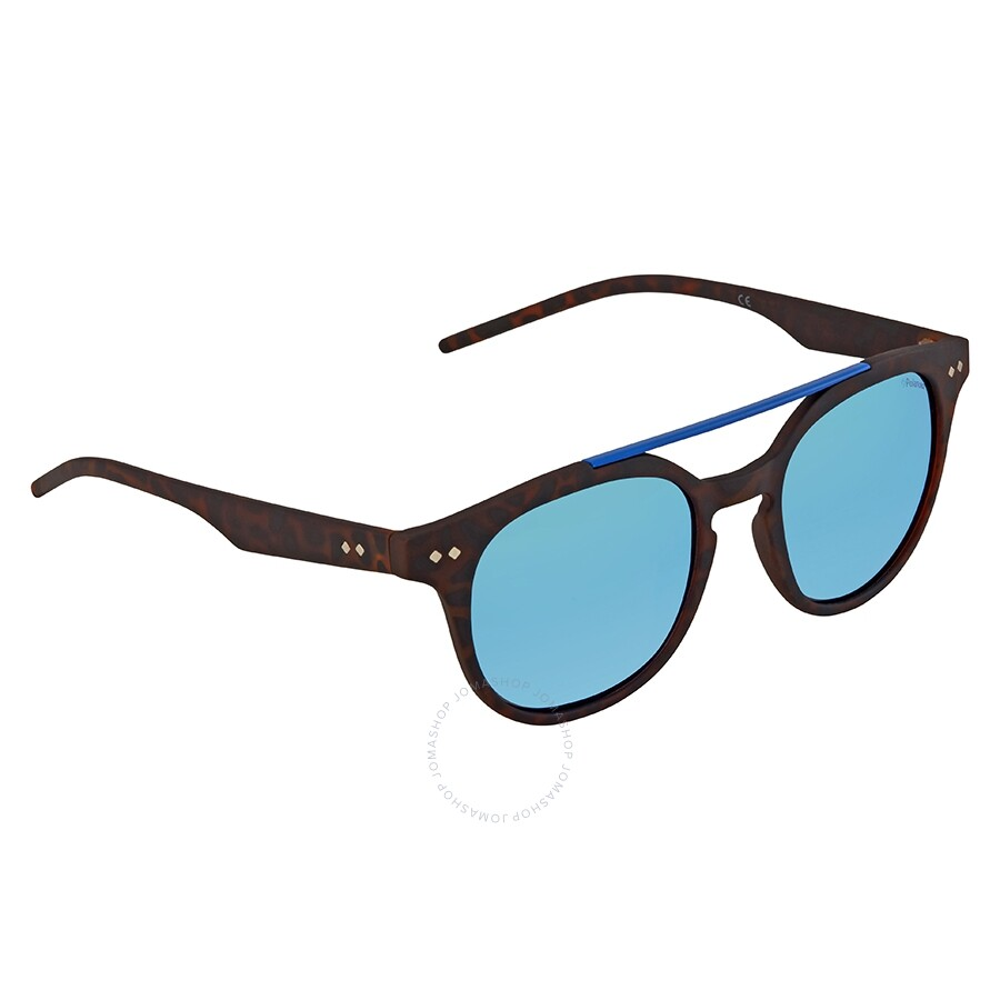 a9faafa637b Polaroid Polarized Grey-Blue Round Sunglasses PLD 1023 S 202 51 ...