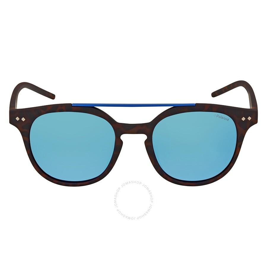 d6a8c263b044 ... Polaroid Polarized Grey-Blue Round Sunglasses PLD 1023/S 202 51 ...