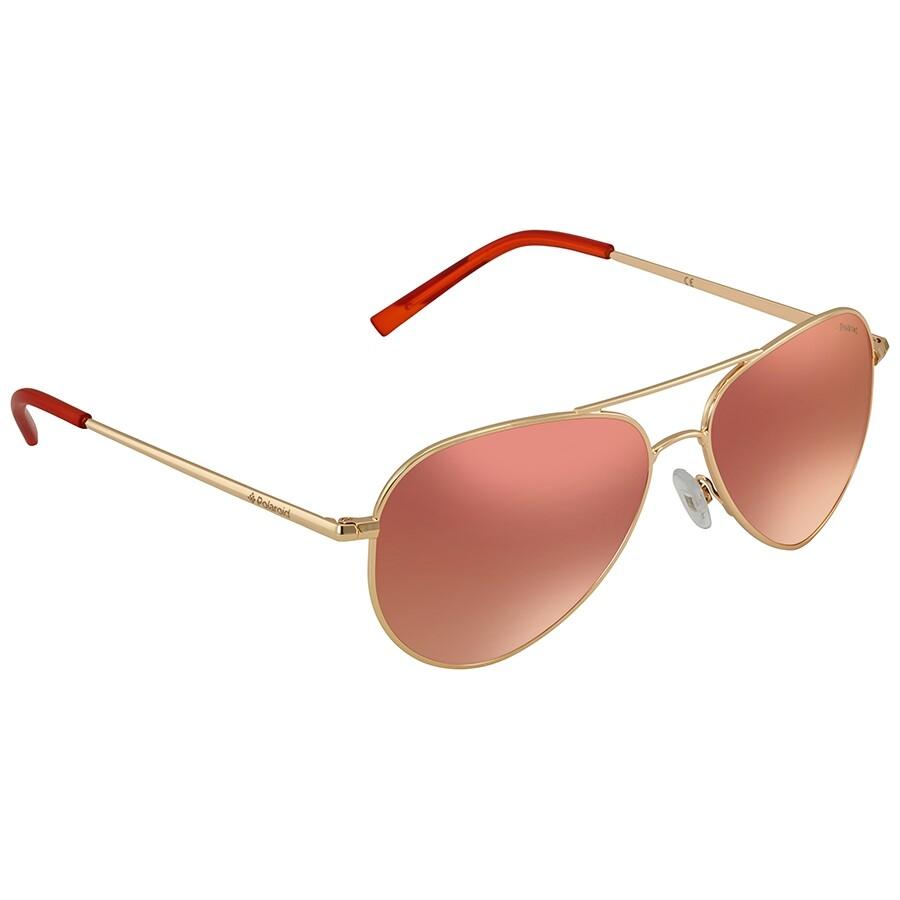 2b55aa97c2 Polaroid Polarized Red Mirror Aviator Sunglasses PLD 6012 N J5G 56 ...