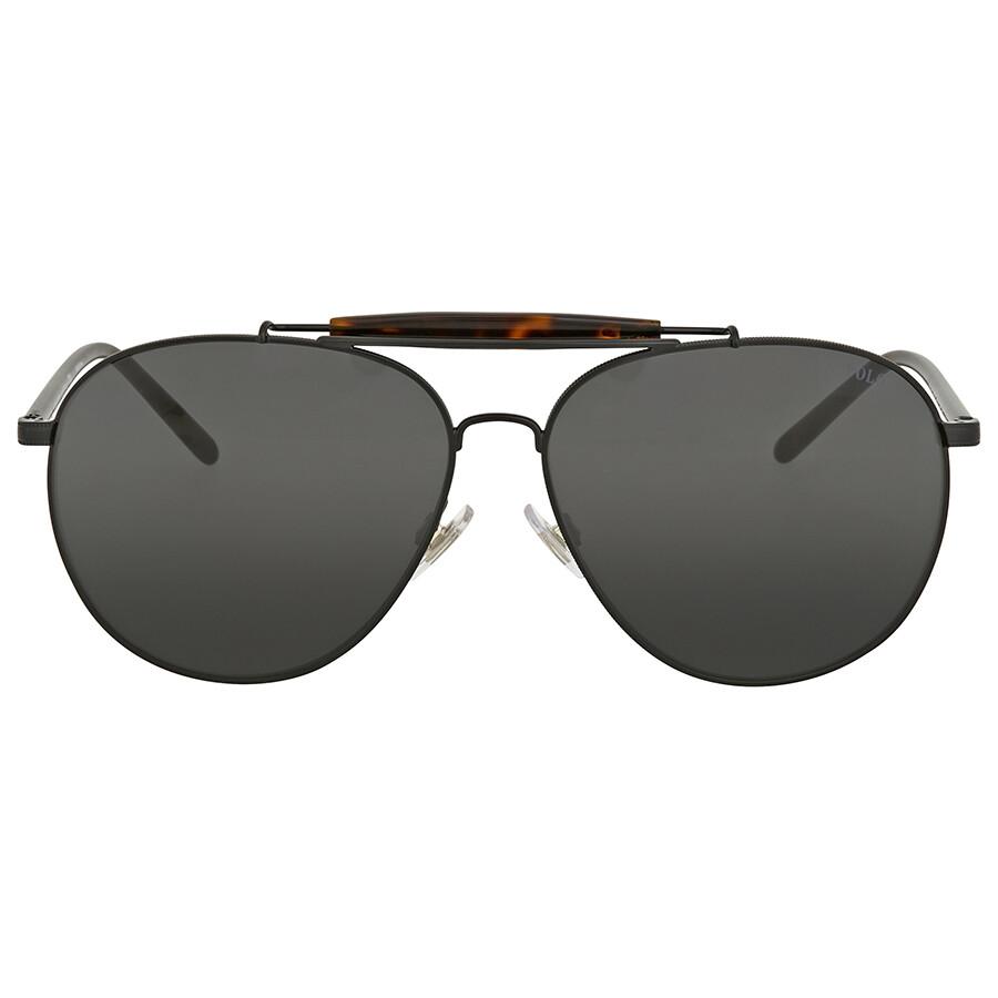 181f78a343de Polo Ralph Lauren Dark Grey Aviator Sunglasses Item No. PH3106 926787 60