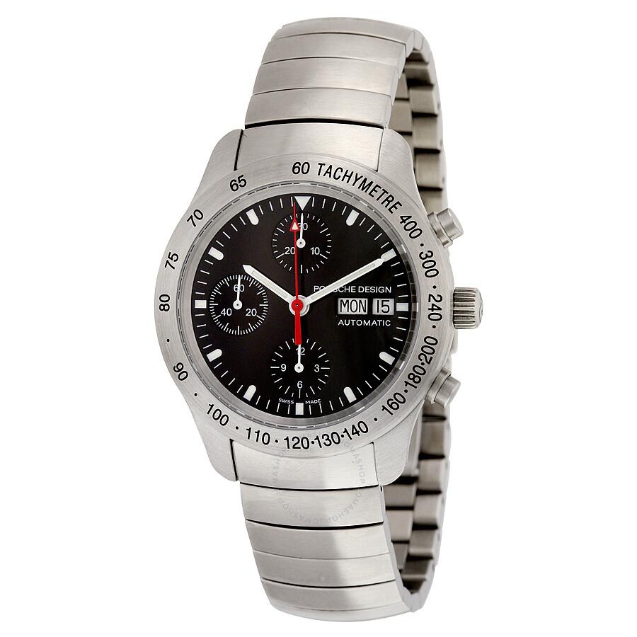 Porsche Design Black Chronograph Dial Stainless Steel Automatic Men S Watch