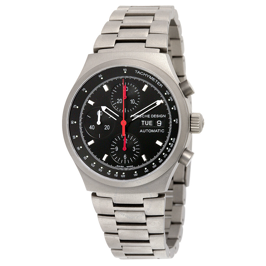 porsche design titanium bracelet black chronograph
