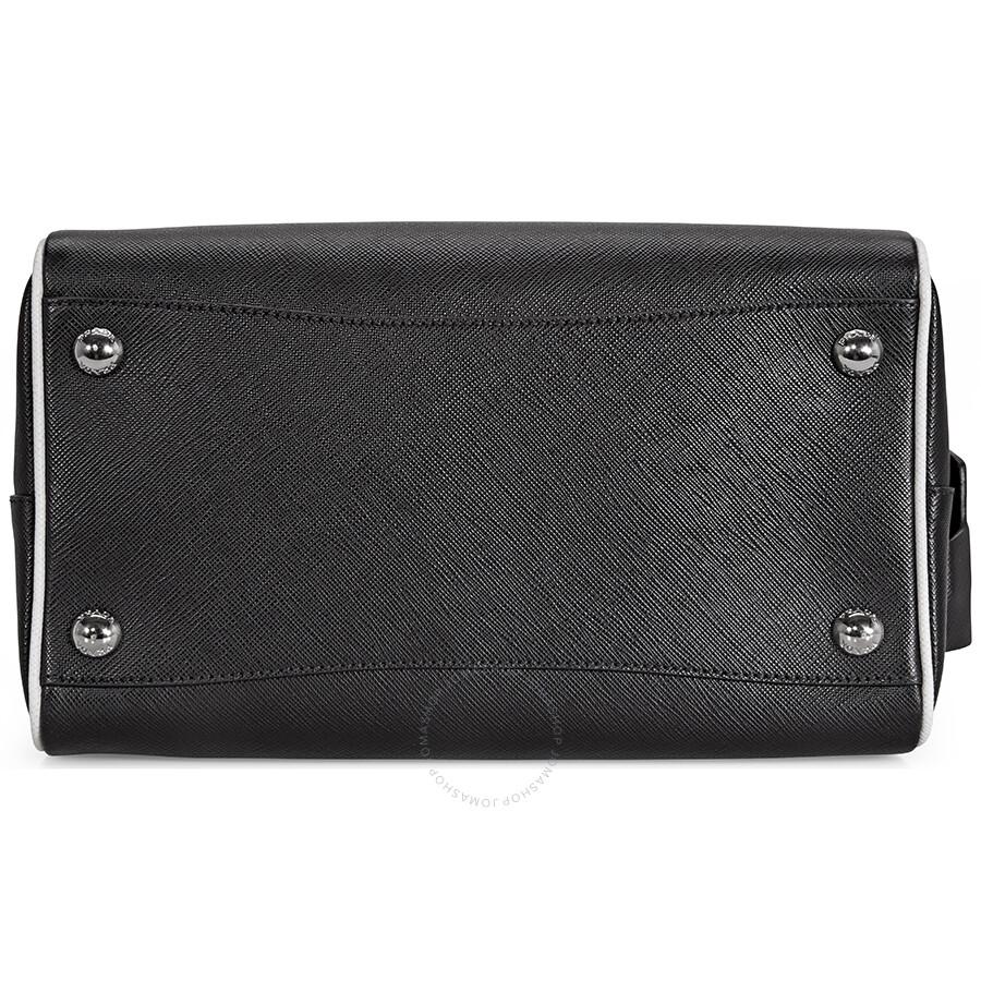 beecea5711ac Prada 2-Way Lux Saffiano Leather Shoulder Bag - Black   Talc - 2-Way ...