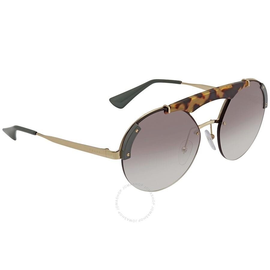 fa739c1b Prada Absoulte Ornate Grey Gradient Round Ladies Sunglasses PR 52US SZ60A7  37