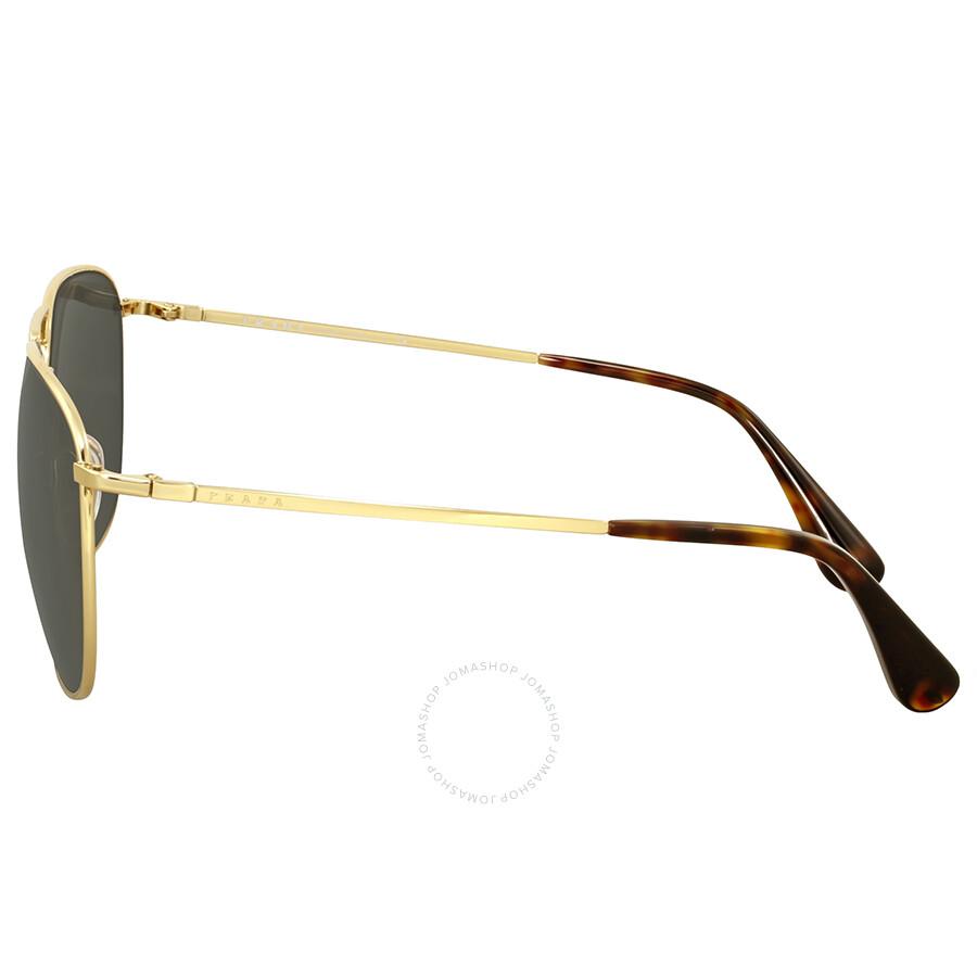 005a08f06d3f Prada Aviator Gold-Tone Dark Grey Mirror Men's Sunglasses - Prada ...