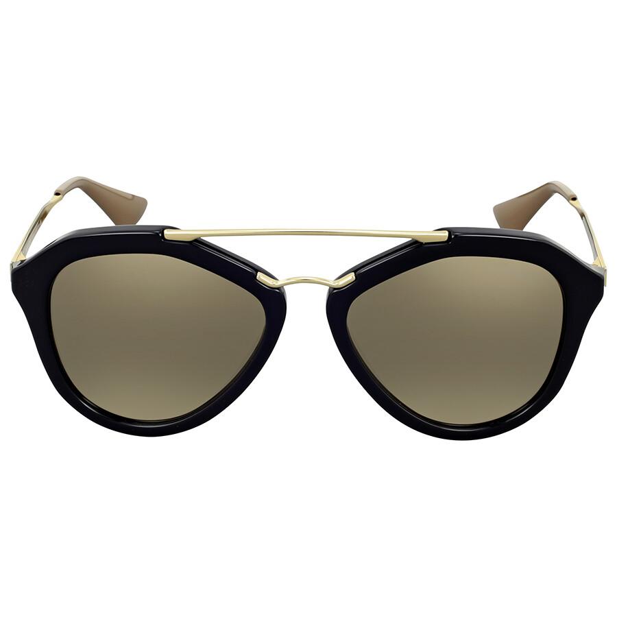 Prada aviator light brown mirror sunglasses prada for Mirror sunglasses