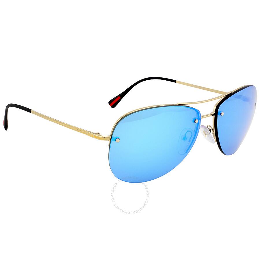 60eebcce2ddb ... mens hot prada aviator light green mirror blue sunglasses ps 50rs  zvn5m2 59 b00ad 6c012 ...