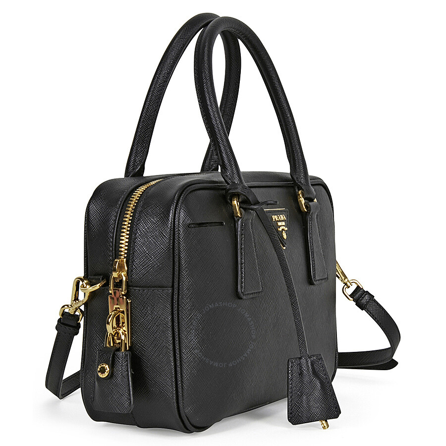 96380269a7 Prada Bauletto Saffiano Leather Lux Handbag - Black - Lux - Prada ...