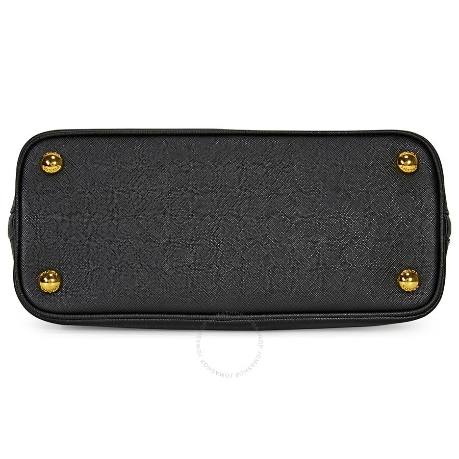 0e70907d988adc Prada Bauletto Saffiano Leather Lux Handbag - Black - Lux - Prada ...