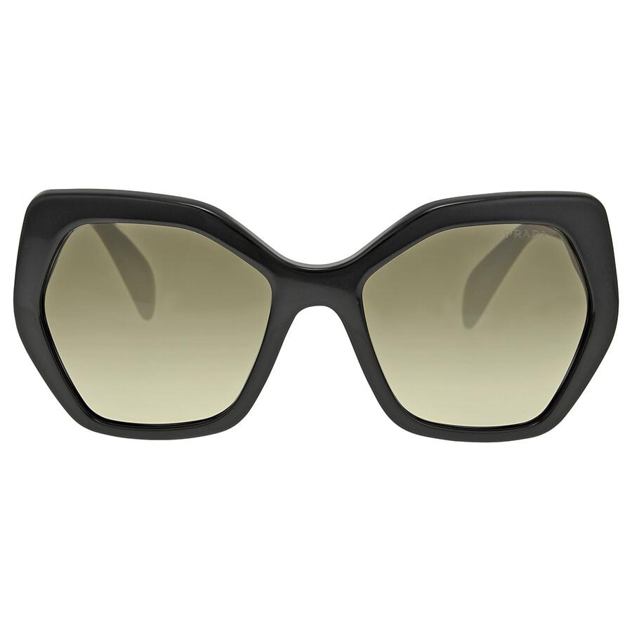 Prada Black Frame Brown Gradient Sunglasses - Prada ...