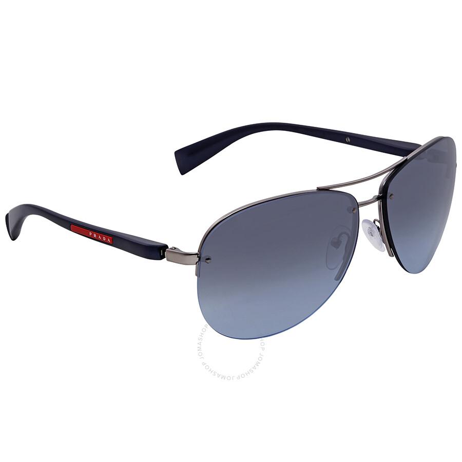 162f86e8d51 Prada Blue Gradient Aviator Men s Sunglasses PS56MS 5AS5I1-65 ...