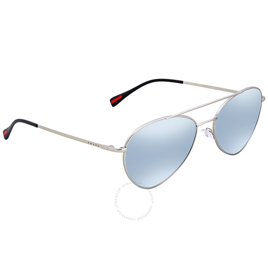 5d0052eb21 Prada Aviator Men s Sunglasses PS50SS-1AP5Q0-57 - Prada - Sunglasses ...