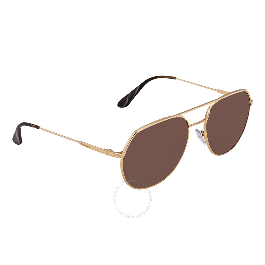 2518b5eb29 Prada Brown 57 mm Aviator Sunglasses PR 55US 5AK8C1 - Prada ...