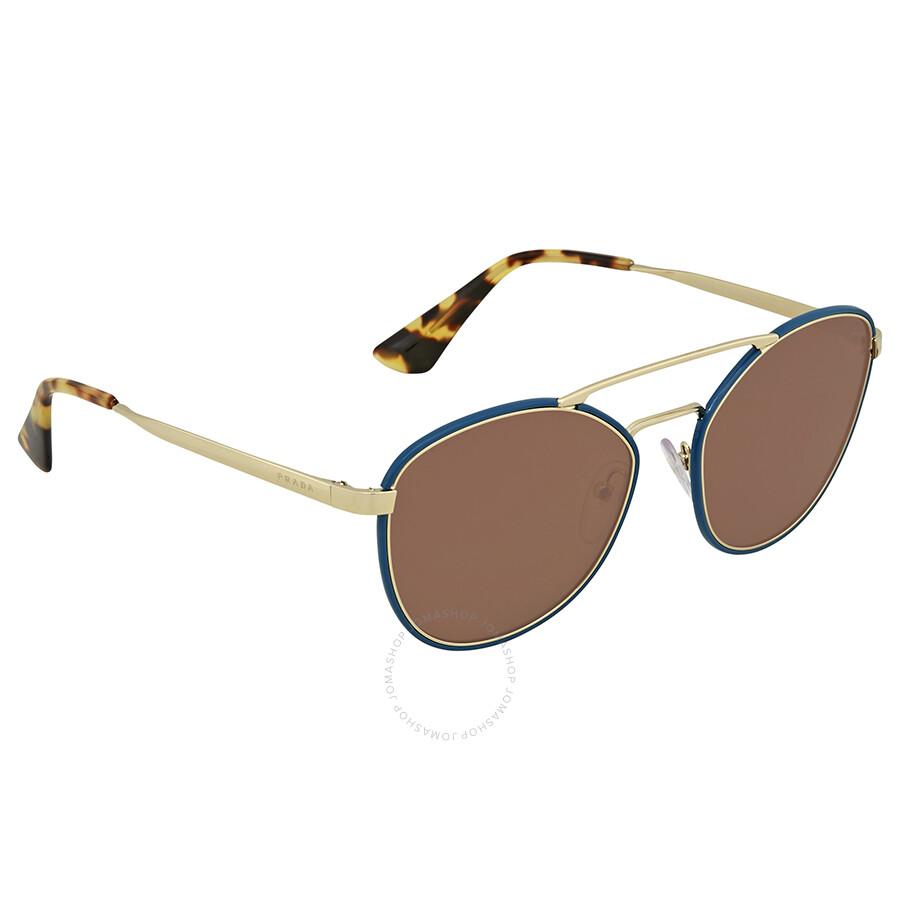 e85cb8e478 Prada Brown Aviator Ladies Sunglasses PR 63TS SL58C1 55 - Prada ...