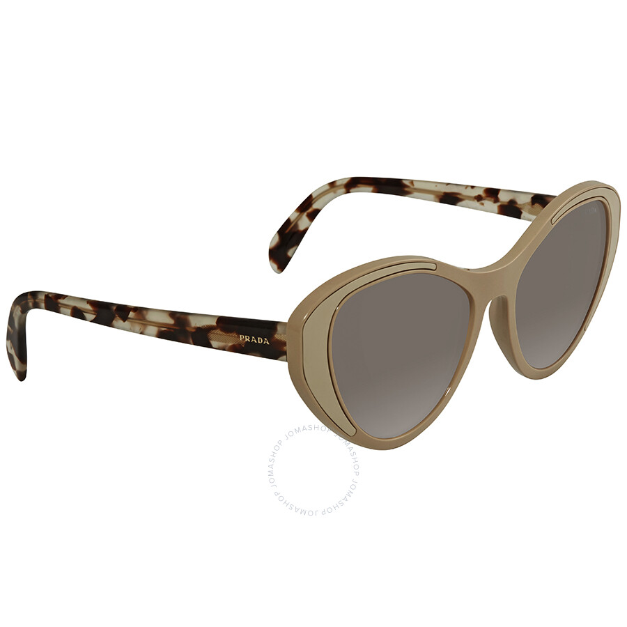04527f87692 Prada Brown Cat Eye Sunglasses PR 14US 02R5S2 Item No. PR 14US 02R5S2 55