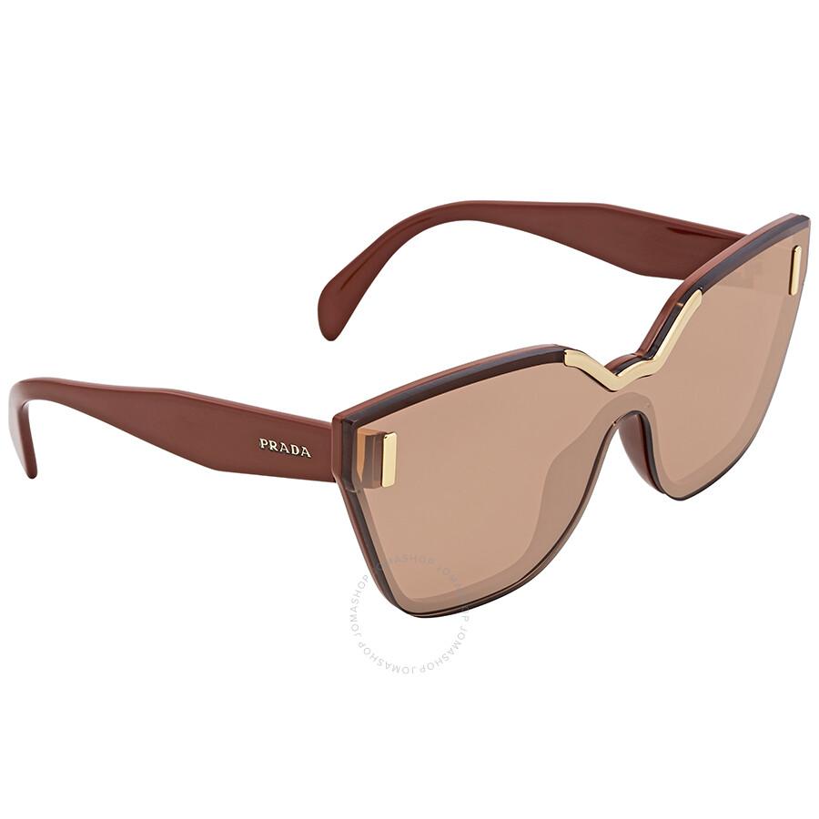68851882289 Prada Brown Cat Eye Sunglasses PR 16TS ZXB1P1 48 - Prada ...