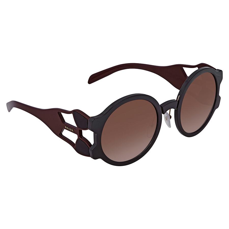 3de19da923dc Prada Brown Gradient Ladies Sunglasses 0PR 13US DHO0A6 54 - Prada ...