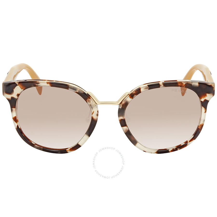 854ce32b00c ... Prada Brown Gradient Square Ladies Sunglasses PR 17TS UAO1L0 53 ...