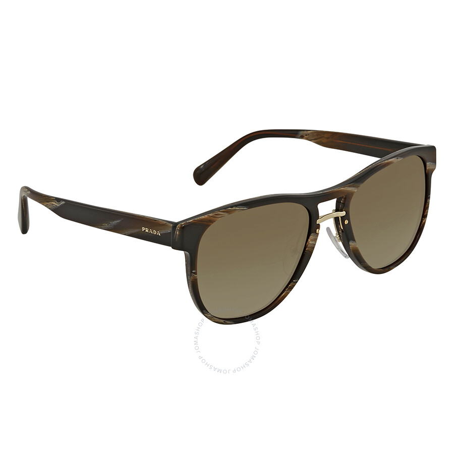 44d3cebbcf71 Prada Brown Gradient Square Sunglasses PR 09US C9O1X1 55 - Prada ...