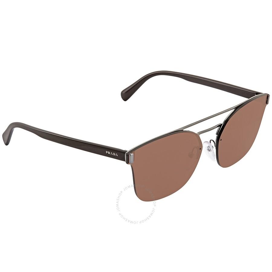 7c1866c12c85 Prada Brown Square Men's Sunglasses PR-67TS-5AV8C1-63 - Prada ...