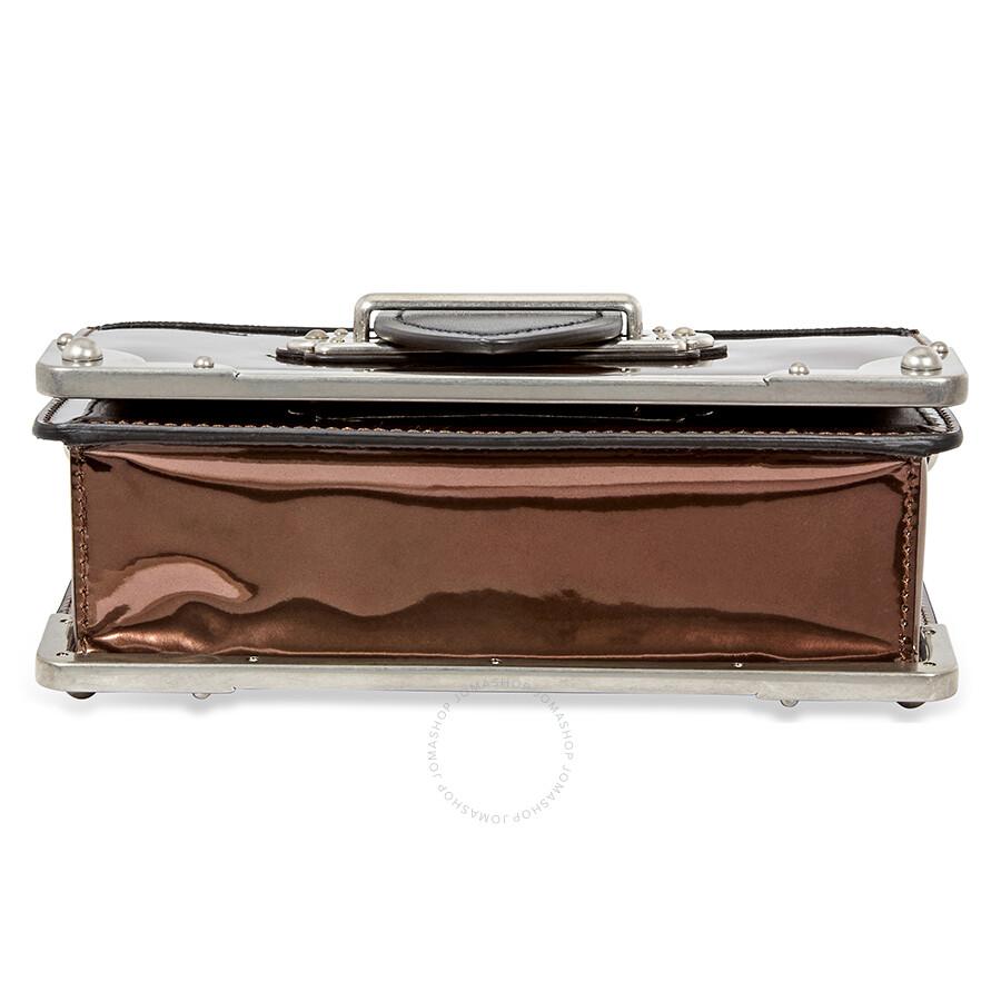 c5064e91ce3b8 Prada Cahier Leather Crossbody Bag- Black Brown - Cahier - Prada ...