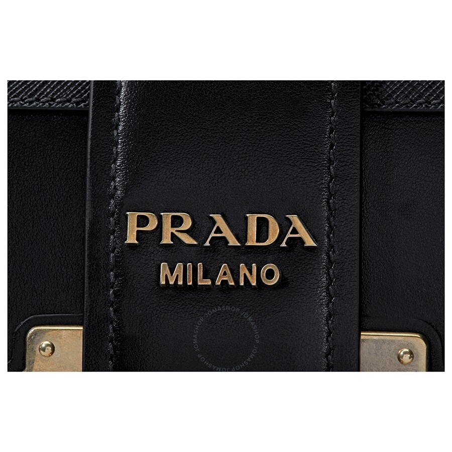 2870225b05bdef Prada Cahier Small Calf Leather Crossbody - Black - Cahier - Prada ...
