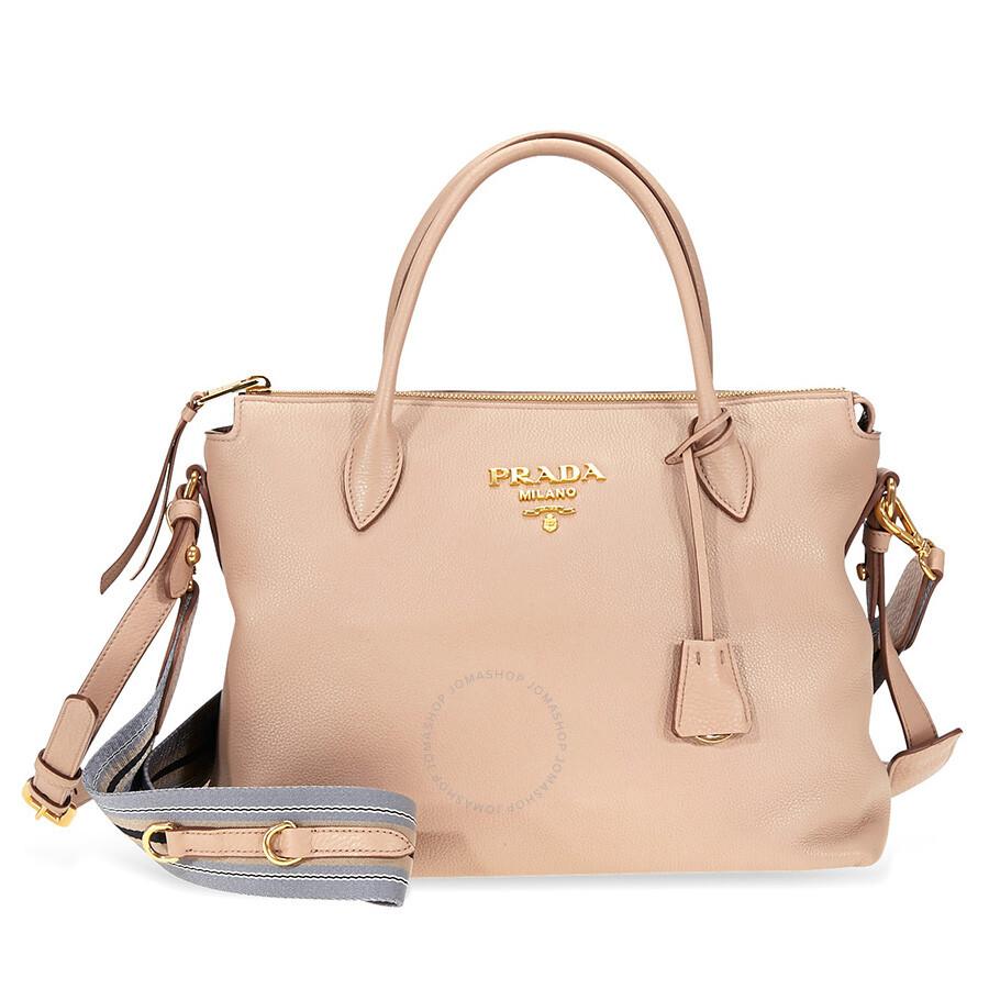 034c01385f0c Prada Calf Leather Crossbody Bag- Cameo Beige Item No.  1BA157_2BBE_F0770_V_NOO