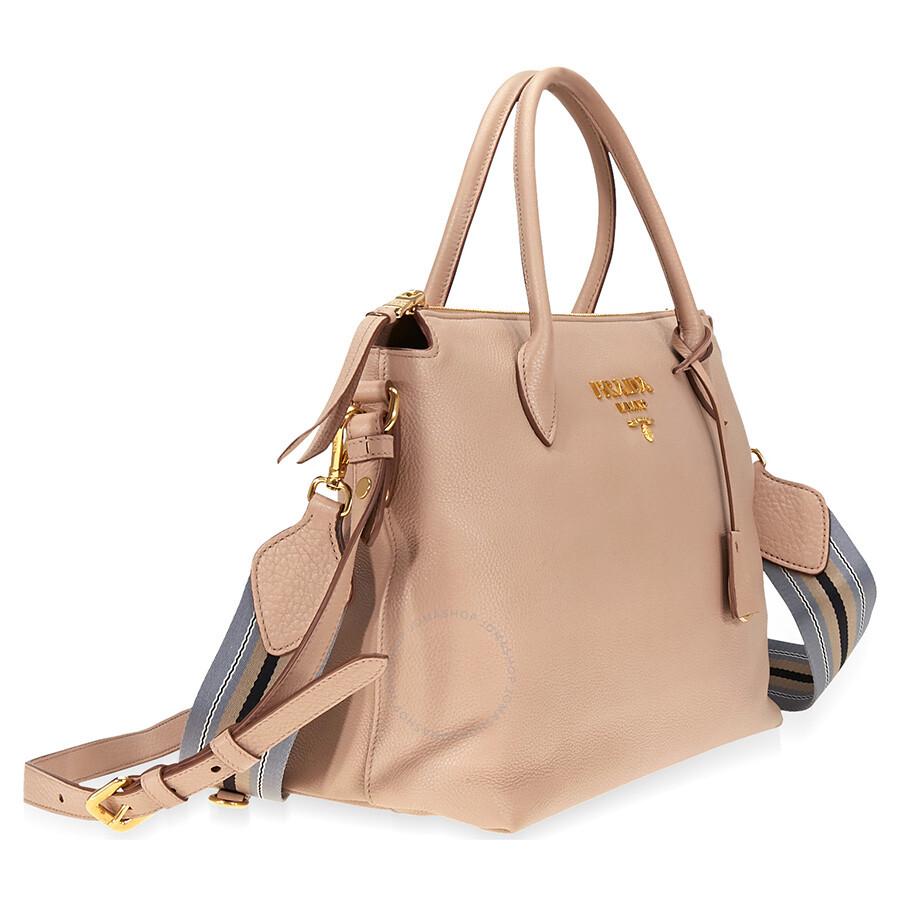 8b6b191b6660 Prada Calf Leather Crossbody Bag- Cameo Beige - Prada - Handbags ...