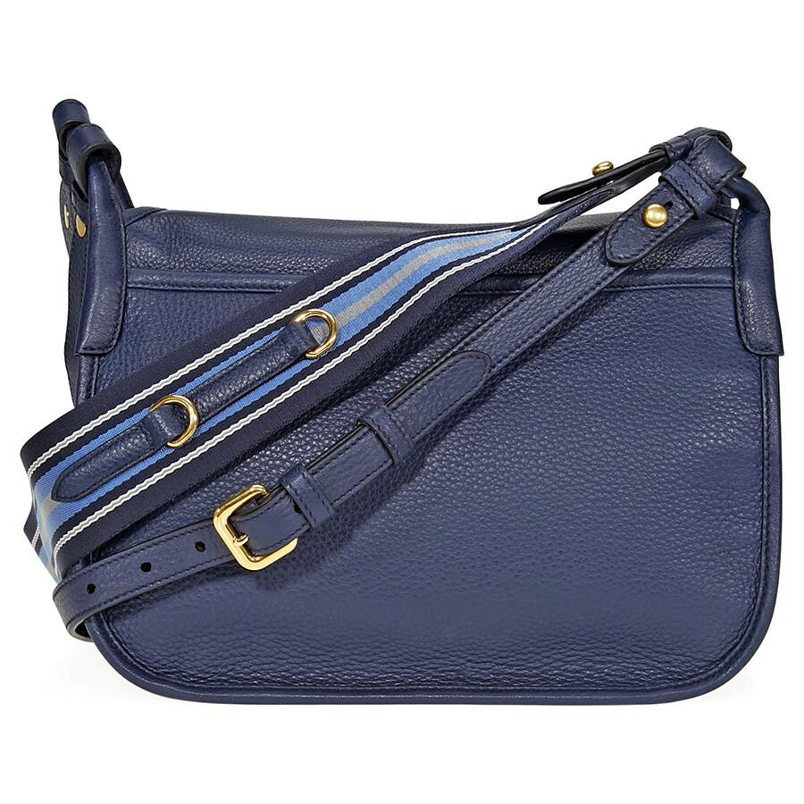 04f135adb043 Prada Calfskin Leather Shoulder Bag- Blue Item No. 1BD109 2BBE F0216-V OOL