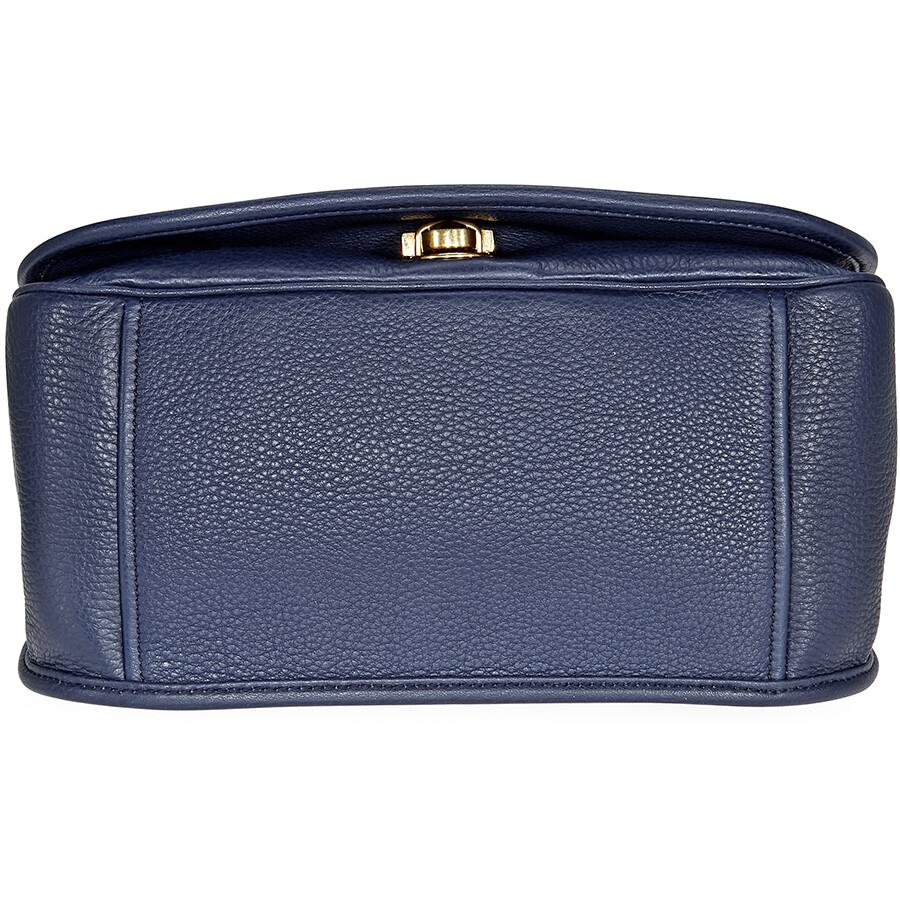 ef34daac4cc7 Prada Calfskin Leather Shoulder Bag- Blue - Prada - Handbags - Jomashop