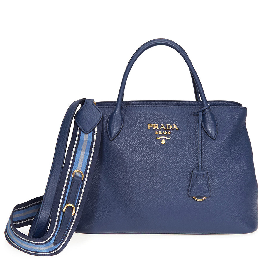 eb987768ff Prada Calfskin Leather Tote - Blue Item No. 1BA579 2BBE F0216-V NOW