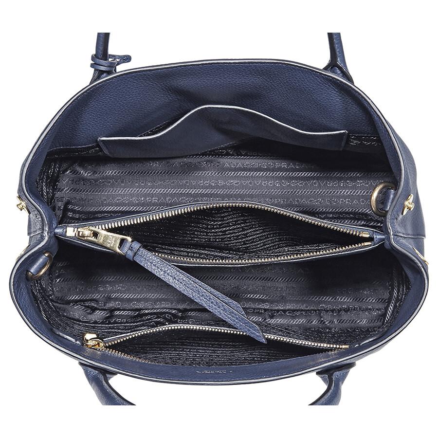 899375c7e9ee Prada Calfskin Leather Tote - Blue - Prada - Handbags - Jomashop