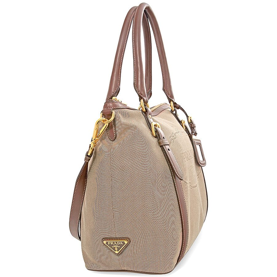 c50d688929 Prada Canvas and Soft Leather Shoulder Bag - Rope   Burned - Prada ...