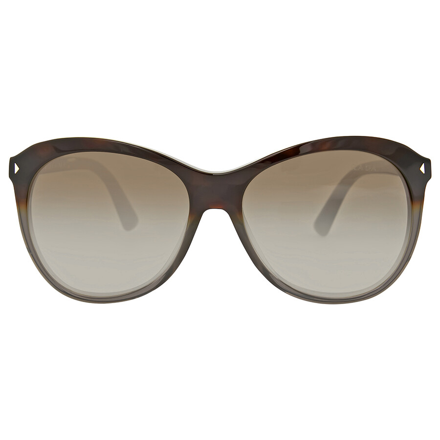 245b43ad650 Prada Cat Eye Grey Havana Brown Gradient Sunglasses Item No. PR 13RS TKT1X1  57