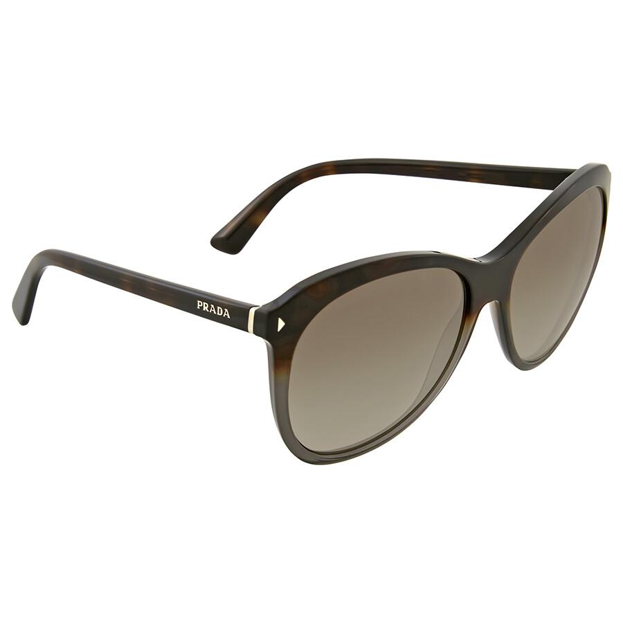 eb095554159 Prada Cat Eye Grey Havana Brown Gradient Sunglasses - Prada ...