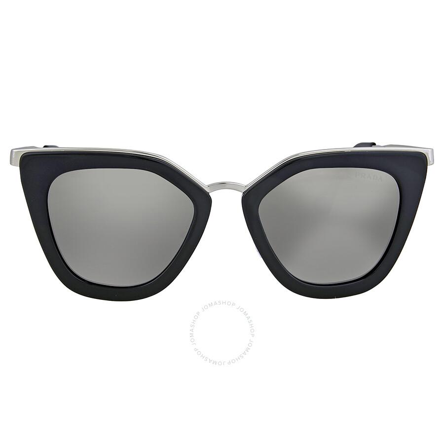 a96595a9442a Prada Cat Eye Grey Mirror Silver Gradient Sunglasses Item No. 0PR  53SS1AB6N252