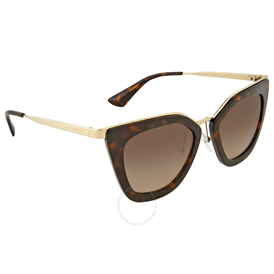 2621b29b2e7 Prada Cateye Havana brown Gradient Sunglasses 0PR 53SS-2AU3D0-52 ...