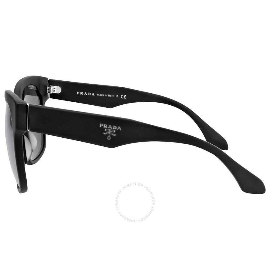 2e8118f186b ... Prada Catwalk Voice Matte Black Gray Sunglasses PR 10RSF-1BO1A1-57 ...