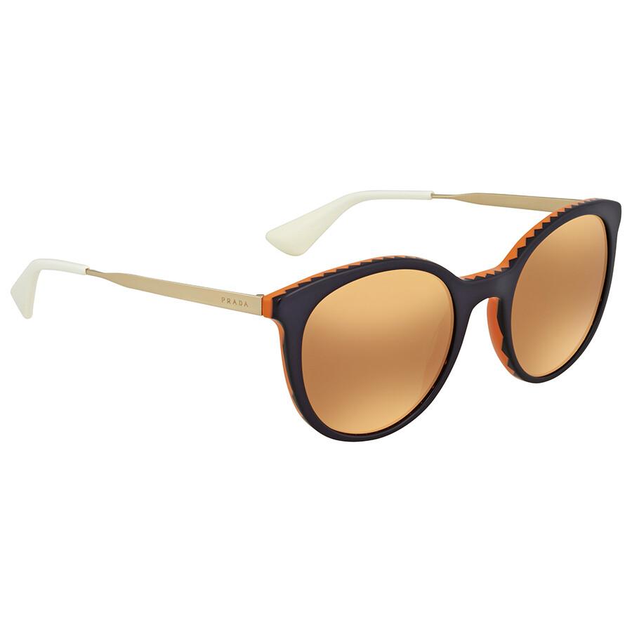 Round Pr 17ss Mirror Ladies Sunglasses Prada Cinema Gold Orange 0Cwx6IqZ
