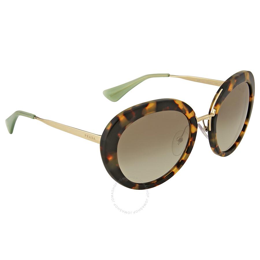 e2f4386530fb0 Prada Cinema Round Green Gradient Sunglasses - Prada - Sunglasses ...