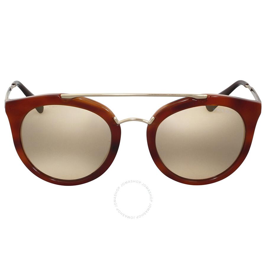 9a0f976109 Prada Cinema Striped Brown Sunglasses - Prada - Sunglasses - Jomashop
