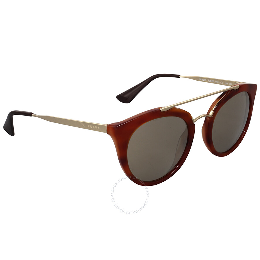 68eab32f1b Prada Cinema Striped Brown Sunglasses Prada Cinema Striped Brown Sunglasses  ...