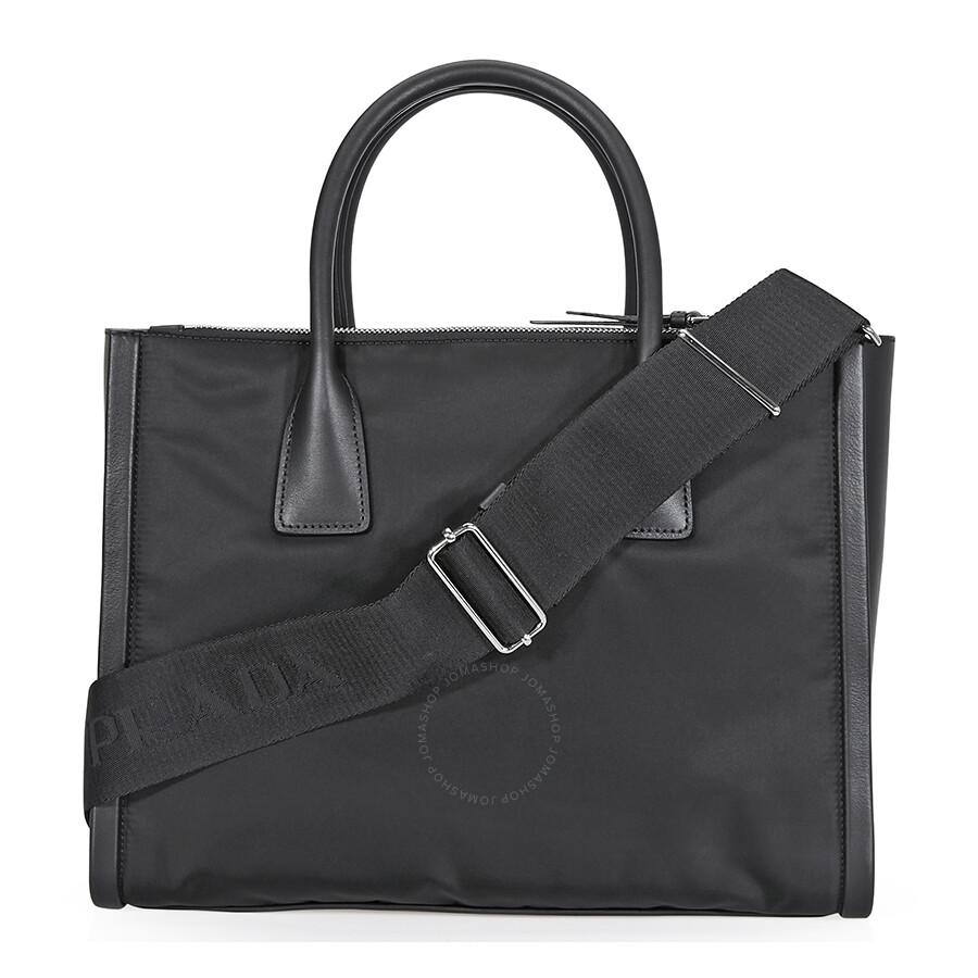 635358d249 Prada Concept Calf Leather and Fabric Shoulder Bag- Black Item No.  1BA183 2BZD F0002 V OOO