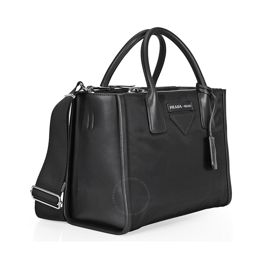 5180feb7efcf Prada Concept Medium Fabric/Leather Crossbody - Black - Concept ...
