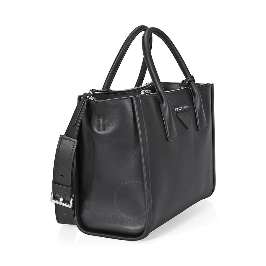 0e99217b39cf Prada Concept Medium Leather Crossbody - Black - Concept - Prada ...