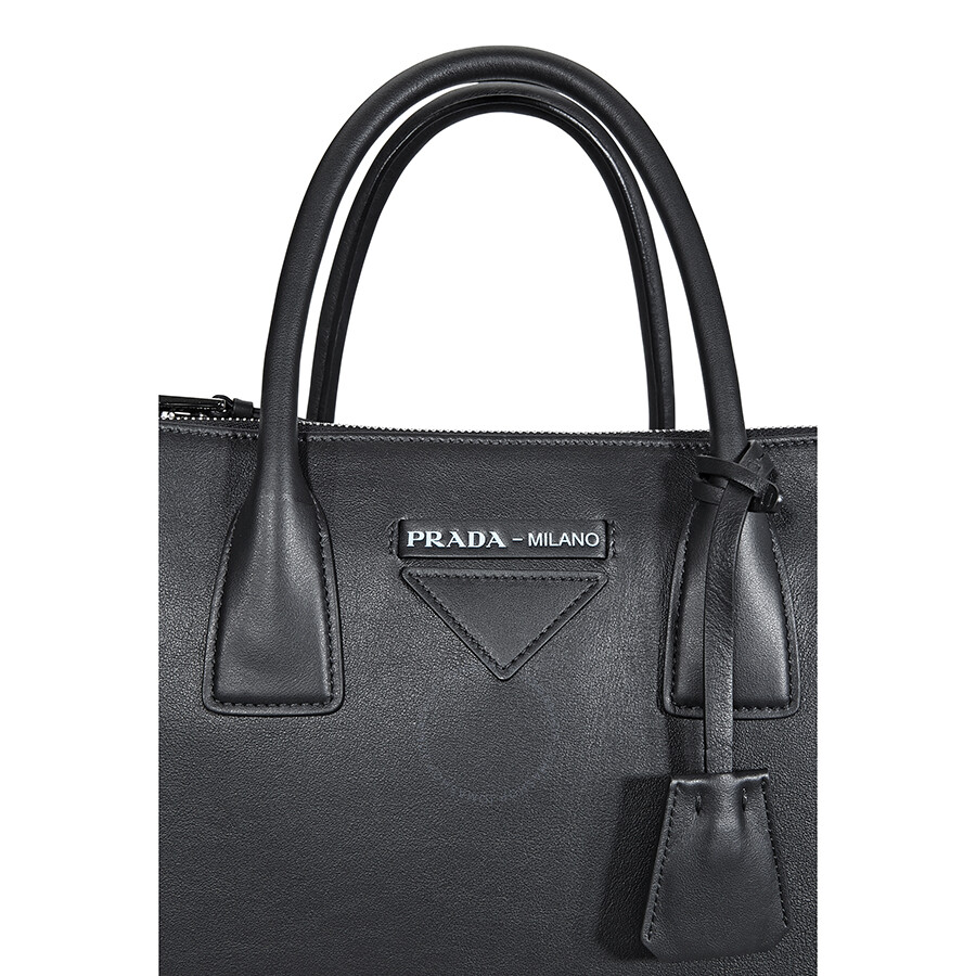 5aef4cf35ade65 Prada Concept Medium Leather Crossbody - Black - Concept - Prada ...